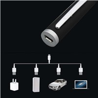 1Pcs USB Green Laser Pointer 532nm mini Lazer Pen Adjustable 5mw Star Sky Head Burning Match For 18650 Battery+Charger