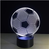 Changing Soccer Ball Light Football 3D Visual Led Night Light USB Novelty Table Lamps Home Decor Lampara Touch Switch Football