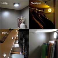 10 LED Wireless Motion Sensor Light Wall Cabinet Wardrobe Drawer Lamp Battery for Stair way Bathroom Kitchen Bedroom