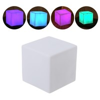 1PC 7-Colors Changing Night Light Square Shaped Cube LED Lamp Room Decor Kids Gift