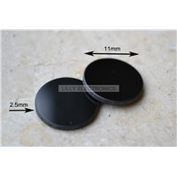 Black 400-750nm Filter Glass Lens 11mm Diameter Allowing for IR Laser Only