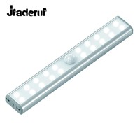 Jiaderui USB Rechargeable LED Motion Sensor Night Lights 20 LED Cabinet Closet Night Lighting Wireless Motion Activated Lamps