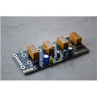 Audio signal Selector Relay Board/ Signal amplifier switching board