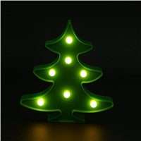 Christmas Tree Lamp Luminous New Year Night Light Bedside Table Lamp LED Wall Decorative Lights Home Decoration