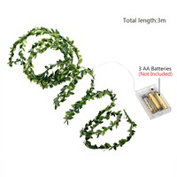 Leaf Holiday Lamp LED Fairy String Lights for Garland Christmas Wedding Party Event LED Fairy String Lights 3M 30 LEDs
