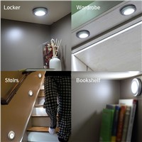 LED IR remote control night lights AAA Battery Powered Anywhere Wall Light for Entrance Hallway Basement Garage Bathroom Cabinet