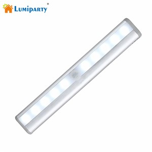 Lumiparty Portable 10 LED Wireless Motion Activated Closet LED Night Light Motion Detector Sensor Closet Cabinet Light Lamp