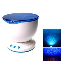 Multicolor Projector Romantic Aurora Master LED Light Ocean Wave Night Light Projector Lamp With Mini Speaker