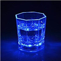 Club Party Decoration Luminous Cups Plastic Wine Glass Light Night Cup Lamp Colorful/bule light With Replaceable CR2025 Battries
