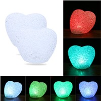 Love Crystal LED Night Light 7 Colors Changing For Christmas Wedding Decor Colorful Night Lamp Christmas Gift