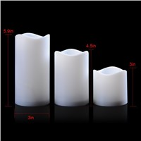 3pcs Romantic Candle Light Wireless Remote Control LED Fliker Flameless Candle Night Light For Wedding Party Holiday Decoration