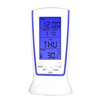 Zacco LED Digital Luminous Music Alarm Clock Timer Nighr Light Blue Ray Temperature Calendar Clock Multi-function Display