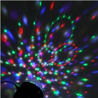 6 Colors Crystal Magic Ball Led Stage Lamp USB Mini Disco Ball Light Music Sound Control DMX Lumiere Laser Party Projector Light