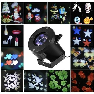 12 Patterns Christmas Laser Snowflake Projector Outdoor LED Waterproof DJ Disco Lights Home Garden Star Light Indoor Decoration