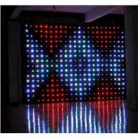Flexible Soft DJ DMX P9 Led Video Version Cloth RGB 3 In1 Color Curtain Wall Light Screen Display for Wedding Stage Backdrops