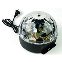 Rasha Cheap 6 Colors LED Crystal Magic Rotating Ball Light RGB Disco Balls Light For Party LED Stage Light LED Light Magic Ball