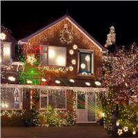 Christmas Laser Lights Outdoor Projector Motion 8 or 12 Xmas patterns Waterproof IP65 RF Remote for Garden Landscape Decoration