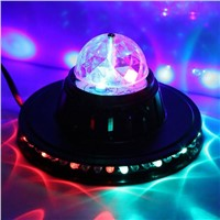 Rotating RGB Stage Light Voice Control Disco Party Crystal Magic LED Ball Club