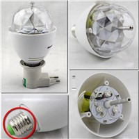 E27 3W 110v-220v Colorful Auto Rotating RGB projector Crystal led Stage Light Magic Ball DJ party disco effect Bulb Lamp