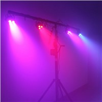 TSSS Led Par Lights Strobe Uplighting 11W 8CH RGBP DMX512 3 Pin XLR Stage Lamp