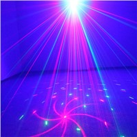 Red Blue LED Disco Light Stage Lighting Effect 18 Patterns Club Bar DJ Laser For Discos Mini Laser Projector Lumiere