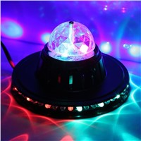 Crystal Magic Sound Activated Sunflower Shaped RGB LED Stage Light Night Lamp DJ Disco Bar Party Show Lighting 8W