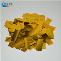 2KG/lot Gold and Silver Mylar Confetti Paper Metallic Confetti Paper For Confetti Cannon Machine