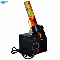 2 Pcs/lot One Shot One Head One nuzzle confetti machine for confetti paper Rainbow Paper Machine co2 gas cannon spray 6-10M