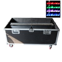 Gigertop Flight Case Mist Fake Flame Machine DMX Control RGB F10 Led Color Waterproof Lamp High Speed Water Fog Produce 110/220V