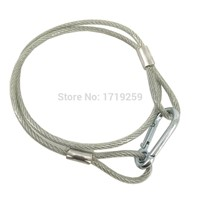 5pcs/lot Stainless Steel Rope Wire Safety Cables With Looped Ends For Securing Stage Lighting ,Loading Weight 40KG