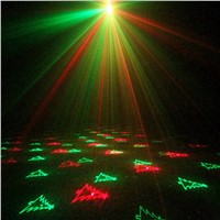 ZjRight Remote control Red Green Christmas patterns laser lights Outdoor Waterproof projection lamp Bar KTV  party show lighting