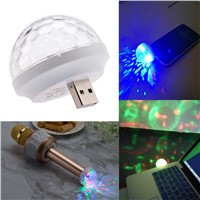 Universal Adaptor USB Mini LED Disco Light KTV Home Atmosphere Lights LED Crystal Ball Sound Activated Home Entertainment Light