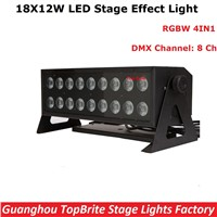 2017 Factory Price 18X12W RGBW 4IN1 LED Stage Effect Bar Light Hi-Power 220W Professional Dj Disco Lighting Equipments Fast Ship