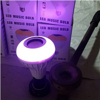 Wireless Bluetooth Speaker Bulb With 24 Keys Remote Control Lamp Music Playing Smart RGB LED Energy Saving Light CLH@8