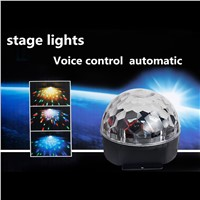 Professional Voice Cotrol Stage Light RGB LED Crystal Magic Ball DJ Party Disco Stage Light Sound Active
