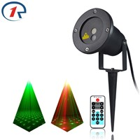 ZjRight IR Remote sky stars RG laser lights outdoor waterproof lawn party projection laser stage light bar ktv dj disco lighting