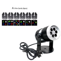 LAIDEYI Christmas Laser Projector Activated Moving Dynamic Snowflake Film Projector Stage Lighting Effect Pattern Lamp