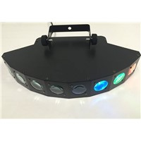 Professional 8 eyes Lighting Stage Light Led Laser Light For KTV bar Sound Control Performance Colorful Stage Lamps
