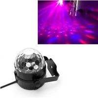 3W RGB LED DJ Disco Party Magic Crystal Ball Stage Effect Light Voice Control