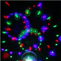 3W B22 E27 LED Colorful Rotating RGB LED Stage Light Party Effect Light Magic Double Balls Colorful LED KTV Bar DJ Disco Lights