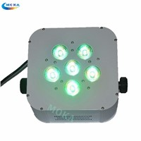 2PCS/LOT Led Par Light 6X18W Wireless Battery Par Led Light Uplights DMX512 for Wedding Decoration Disco Dj