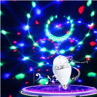 Thrisdar E27 Magic Ball Bluetooth LED Stage Lamp Disco DJ Party Stage Light Bluetooth Speaker Music Playing Bulb With Controller