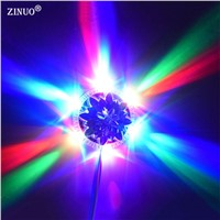 ZINUO Mini UFO Colorful RGB LED Lamp Auto Rotating Magic Ball RGB LED Light DJ disco stage lighting Bulbs for Bar KTV AC85-265V