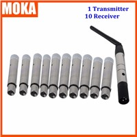 11 Pcs/lot Remote Control Wireless Control DMX Wireless Transmitter Receiver Sender for led lighting Control
