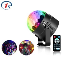 ZjRight IR Remote LED Crystal Rotating Ball Stage Lights Kids KTV birthday gift dj Holiday music Christmas  party computer light