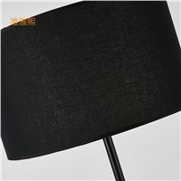 black and white shade floor lamp fabric lampshade  lighting floor Black white  ligts modern floor lighting bed room lighting