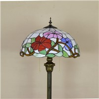 16inch Tiffany red rose flower Stained Glass floor lamp E27 110-240V for Home Parlor Dining bed Room