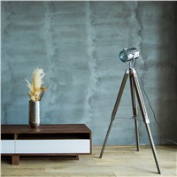 American Rural Tripod Standard lamp for living room Solid wood stainless steel  Retro European Modern floor light