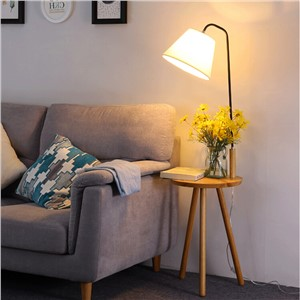 Modern Minimalist Floor Lamp table light Wood Tripod simple life white Fabric Shade Creative Living Room Study Lighting Fixture