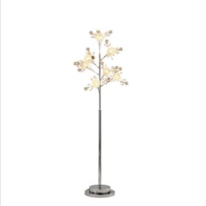 Creative bedroom tree branches crystal lamp stand lamps European living room led floor lamp Nordic vertical table led fixture